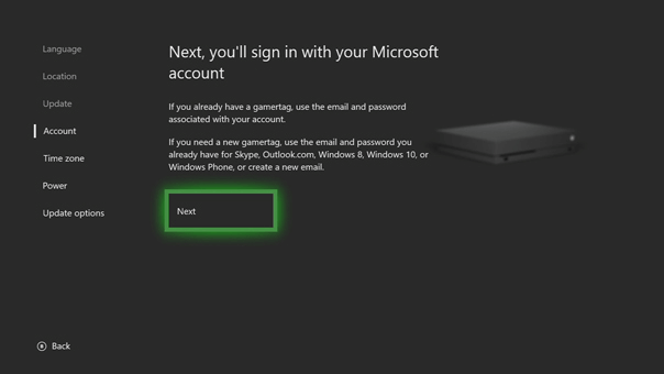 How do I sign in to Xbox Live on Xbox One