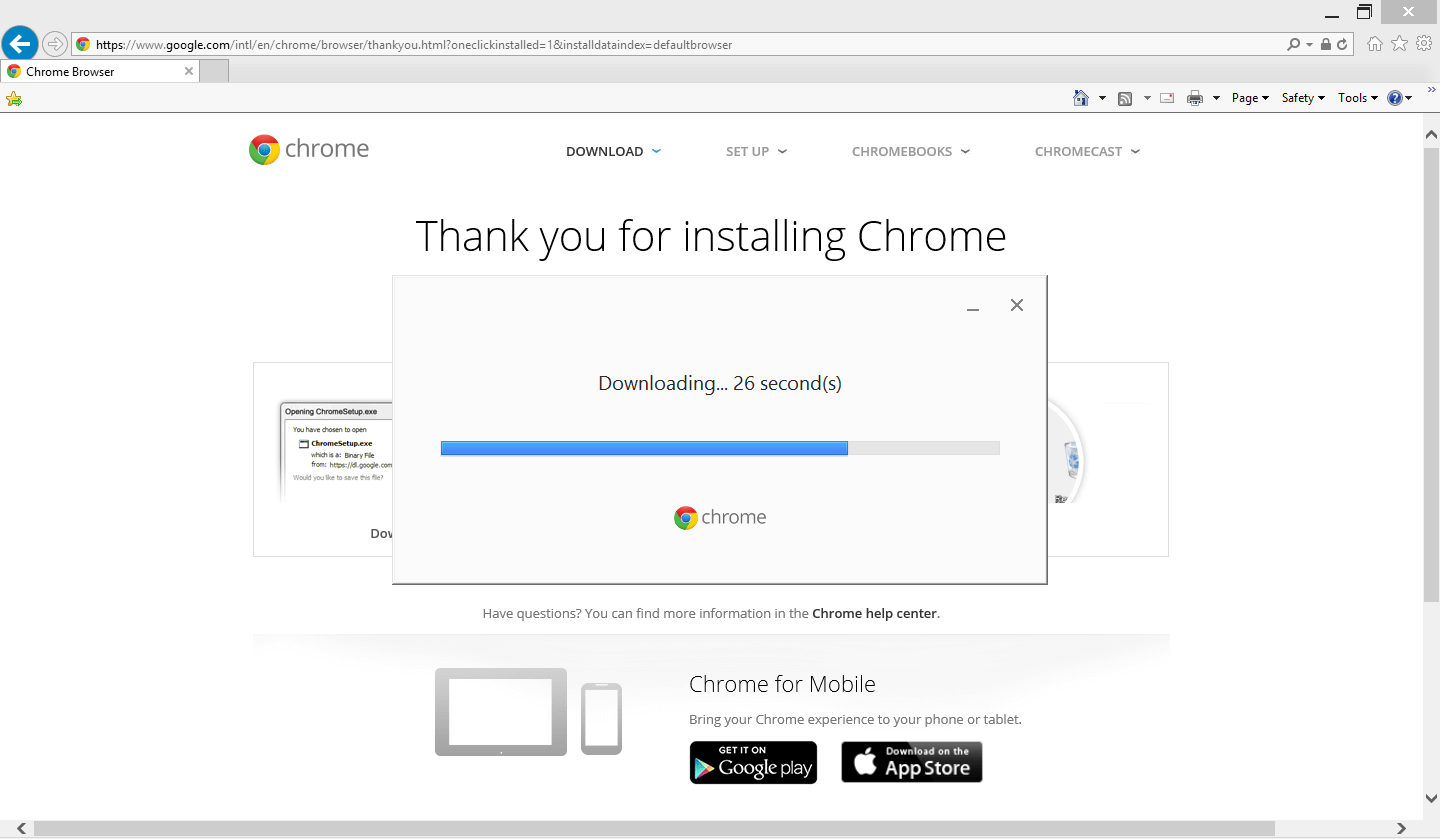 how to install Google Chrome