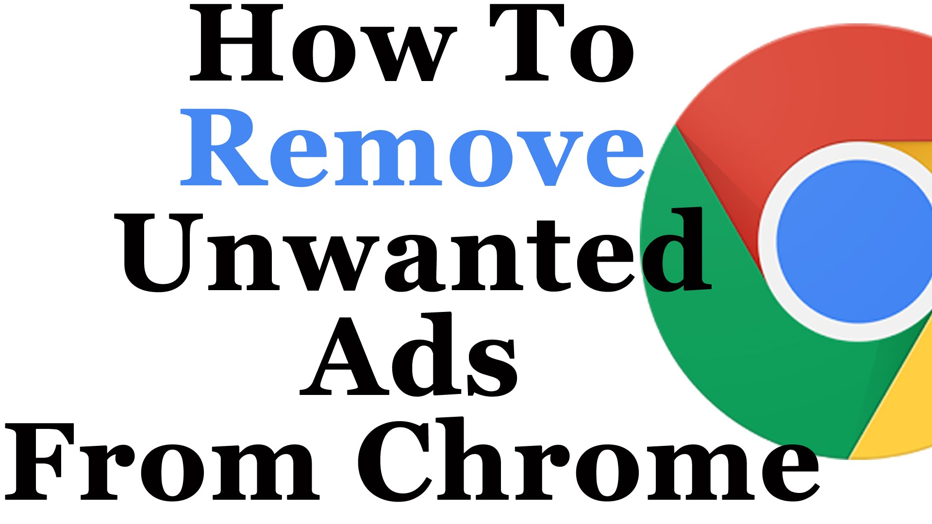 how to remove ads from google chrome