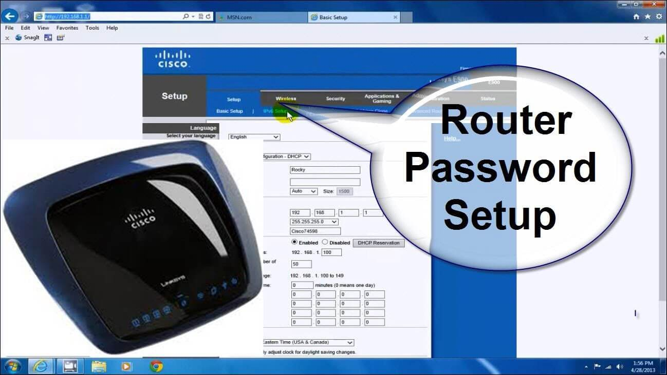 linksys router password reset